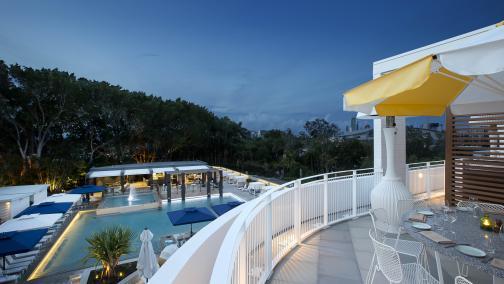 Cucina Vivo balcony and pool