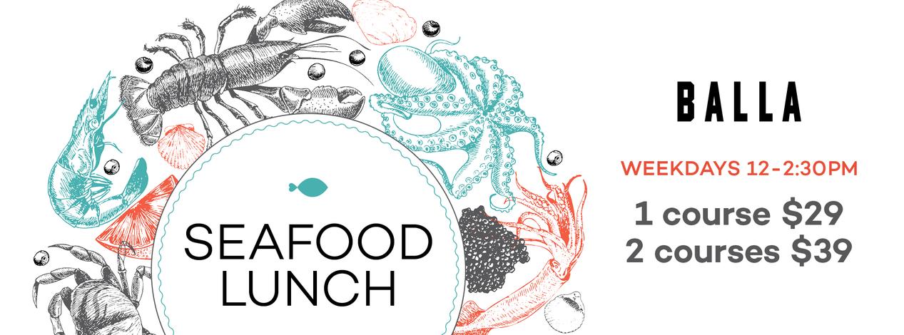Autumn Seafood Lunch Balla Banner