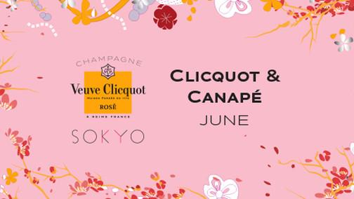 Clicquot and Canape at Sokyo Lounge
