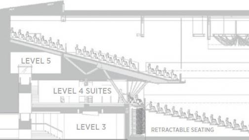 Event Centre Longitudinal Floor Plan