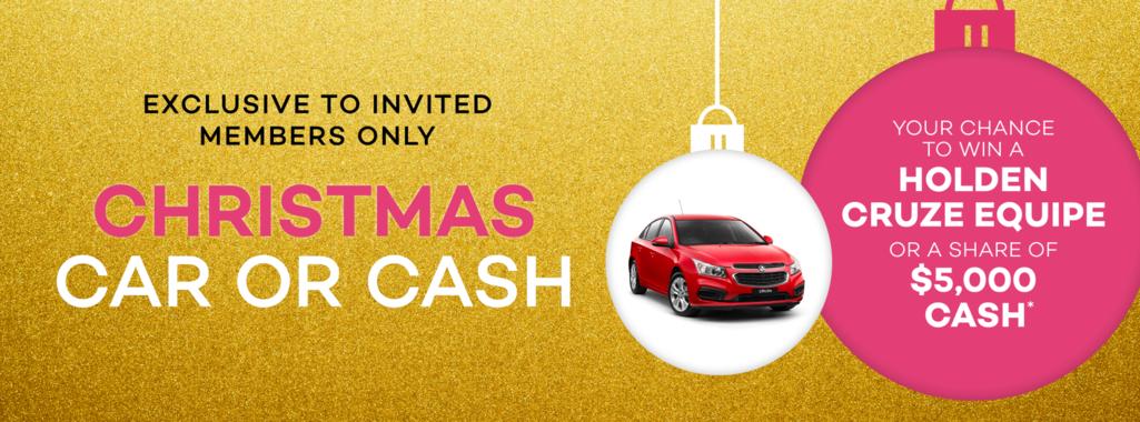 Christmas Car or Cash