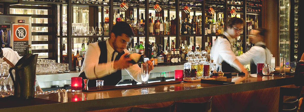 black bar bartender